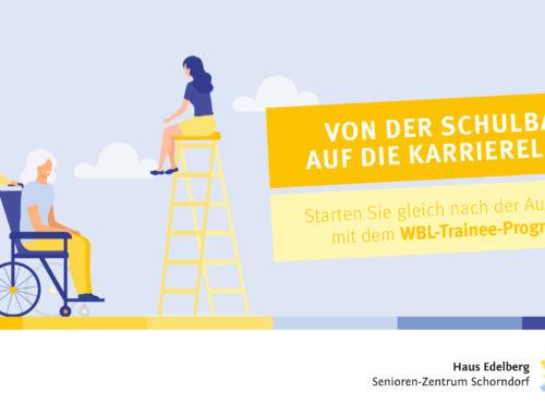 Von der Pflegeschule auf die Karriereleiter mit dem WBL-Trainee-Programm im Haus Edelberg Senioren-Zentrum Schorndorf